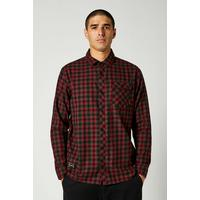 Men's Reeves Long Sleeve Button Up - Black/Red