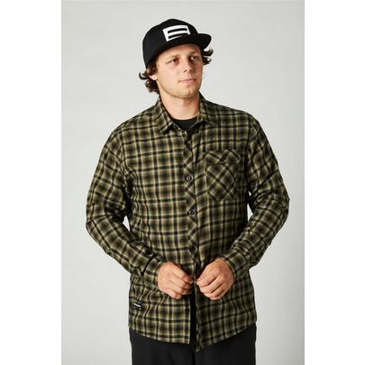 Fox Men's Reeves Long Sleeve Button Up - Olive Green