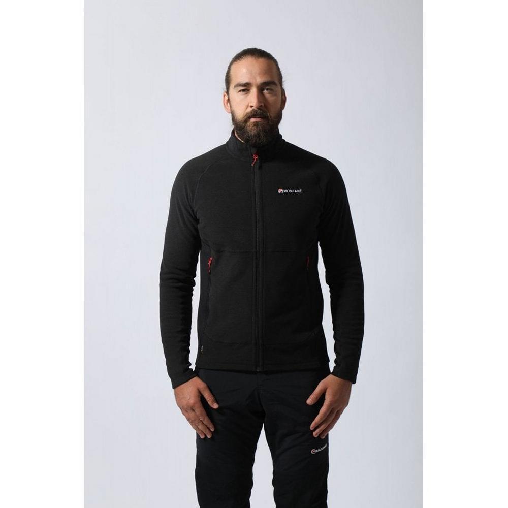 Montane FLEECE Jacket Men's Pulsar Black/Alpine Red