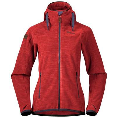 Bergans Women's Hareid Fleece Hooded Jacket - Red