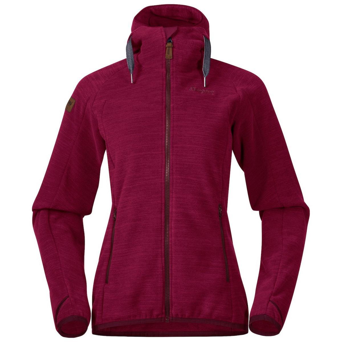 Bergans Women's Hareid Fleece Jacket - Zinfandel Red