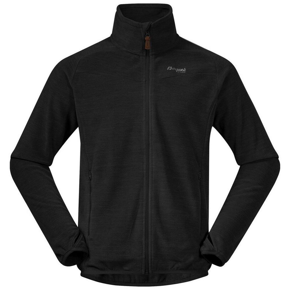 Bergans Men's Hareid Fleece Jacket No Hood - Black