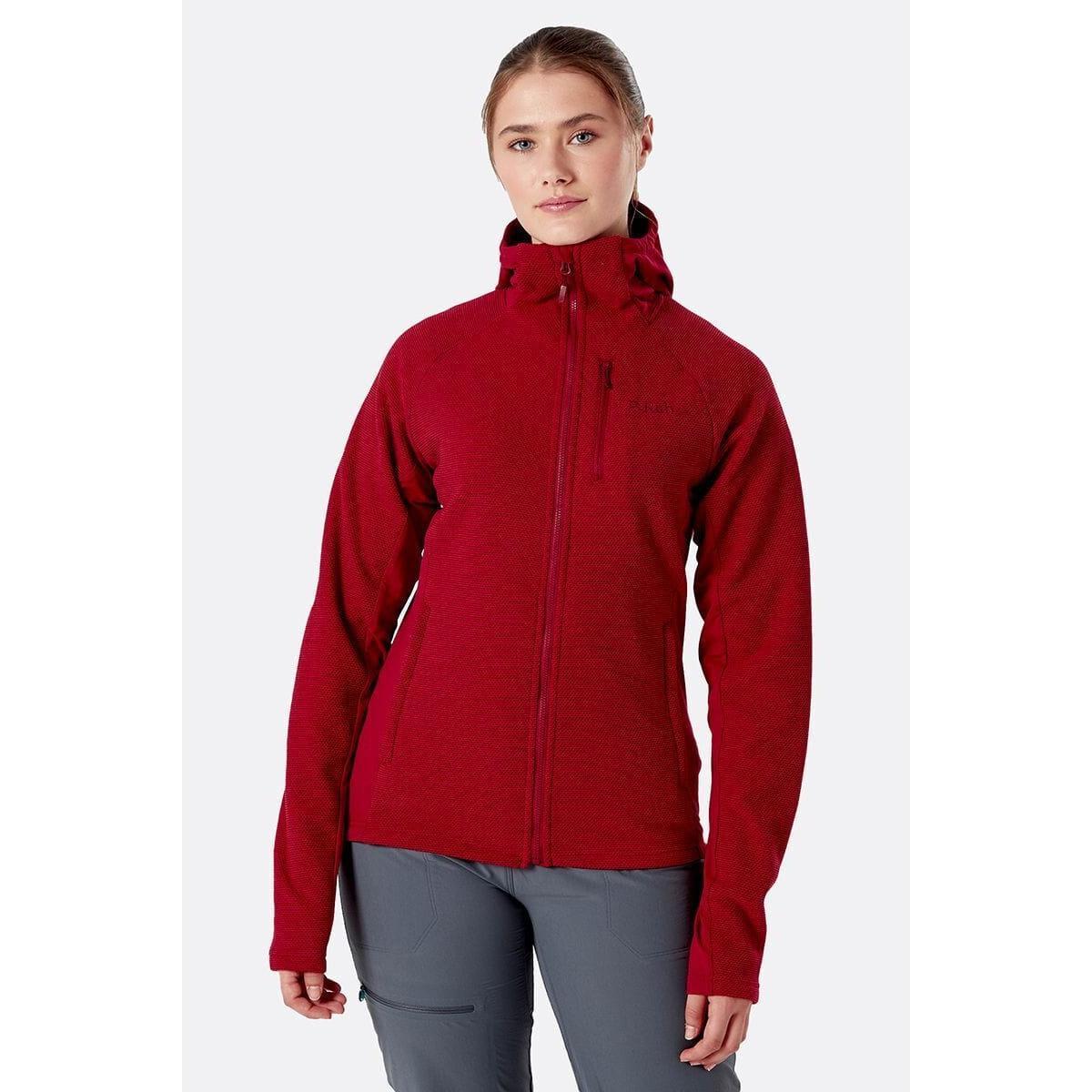 Rab Women's Rab Capacitor Fleece Hoody - Red