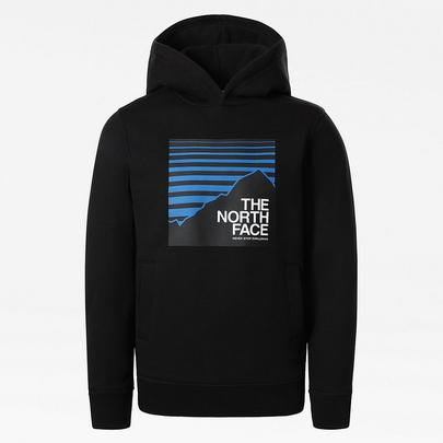 The North Face Kids New Box Crew Hoodie - Blue