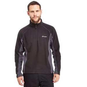 Men's Berghaus Hartsop Half-Zip Fleece - Black Carbon