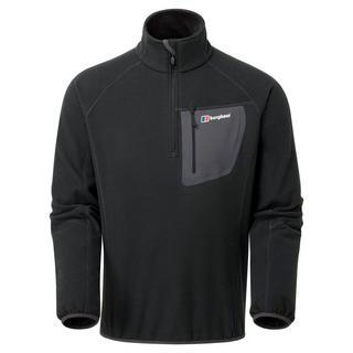 Men's Berghaus Kedron Half Zip Fleece - Black