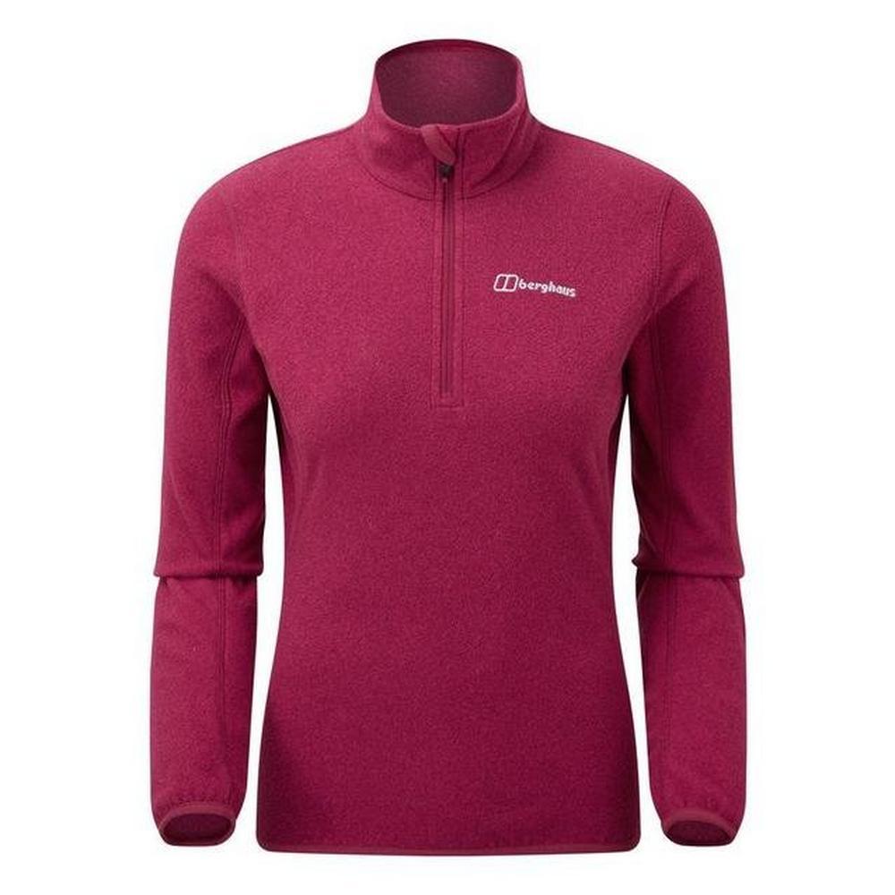 Berghaus Women's Hendra Half Zip Fleece - Beet Red
