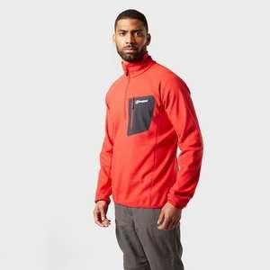Men's Kedron Half Zip Fleece - Haute Red
