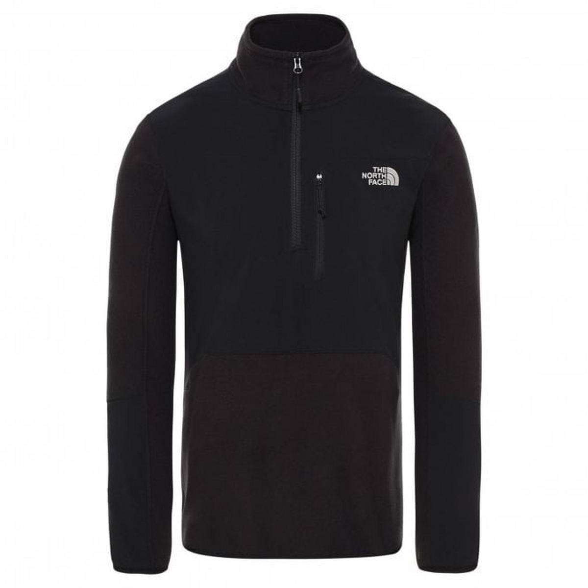 The North Face Men's Glacier Pro 1/4 Zip Fleece - Black