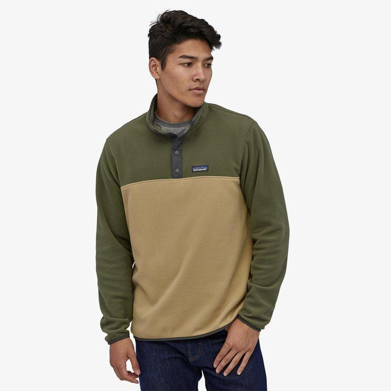 Men's Micro D Snap T Pullover - Green