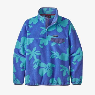 Patagonia Women's Lightweight Synchilla Snap-T Pullover - Blue