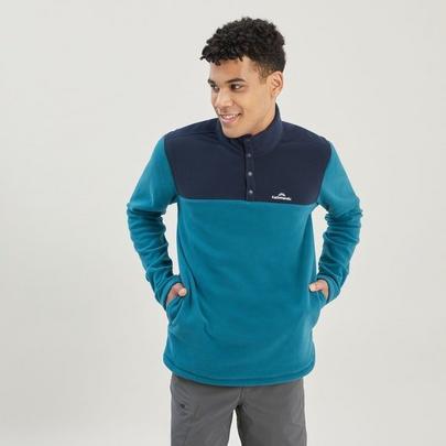 Kathmandu Men's Pelorus Snap Neck Fleece - Blue