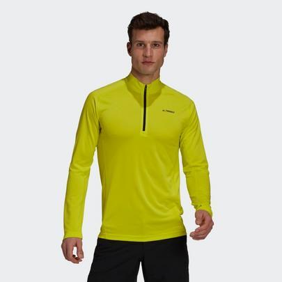 adidas Terrex Men's Tracero Half Zip Fleece - Yellow