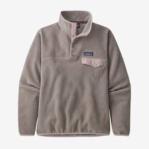 Women's Lightweight Synchilla Snap-T Pullover - Furry Taupe w/Hazy Purple