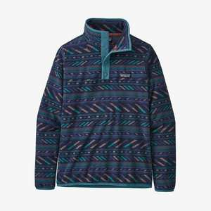 Women's Micro D Snap T Pullover - Bergy Bits New Navy