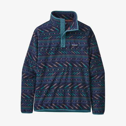 Patagonia Women's Micro D Snap T Pullover - Bergy Bits New Navy