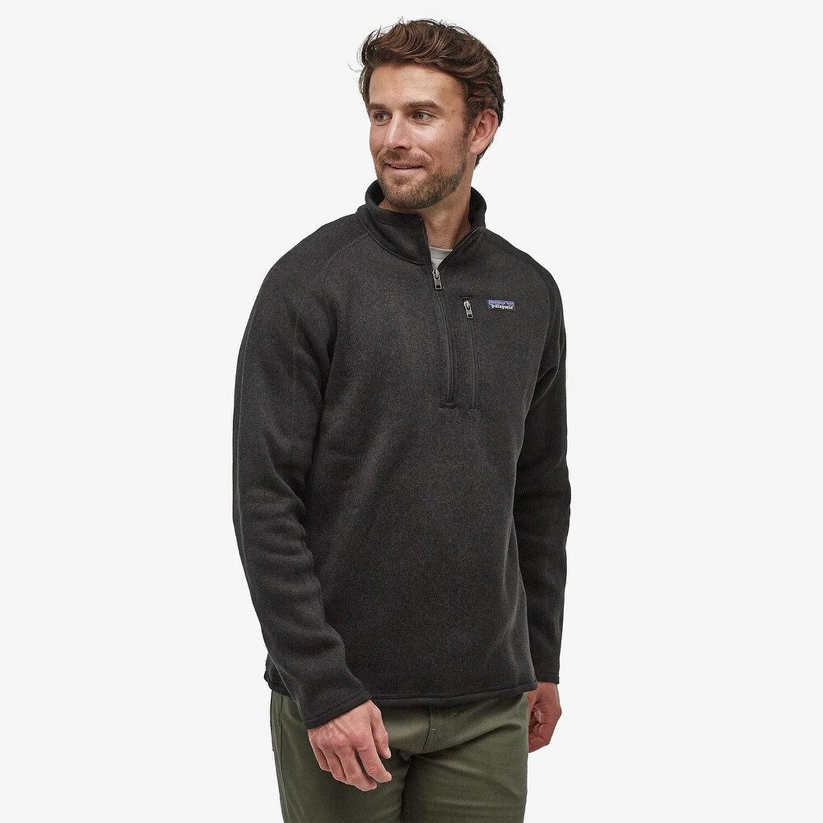 Patagonia Men's Better Sweater 1/4 Zip Fleece - Black
