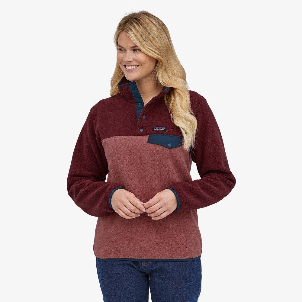 Patagonia Women's Lightweight Synchilla Snap-T Fleece Pullover - Red