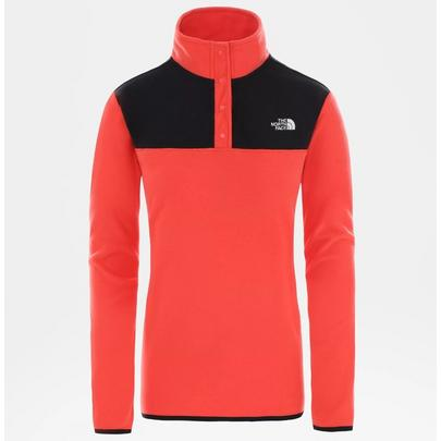 The North Face Women's TKA Glacier Snap-Neck - Red