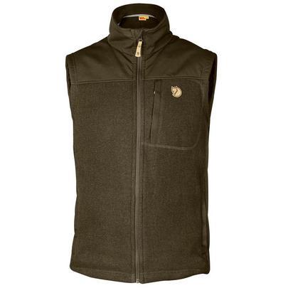 Fjallraven Men's Buck Fleece Vest - Dark Olive