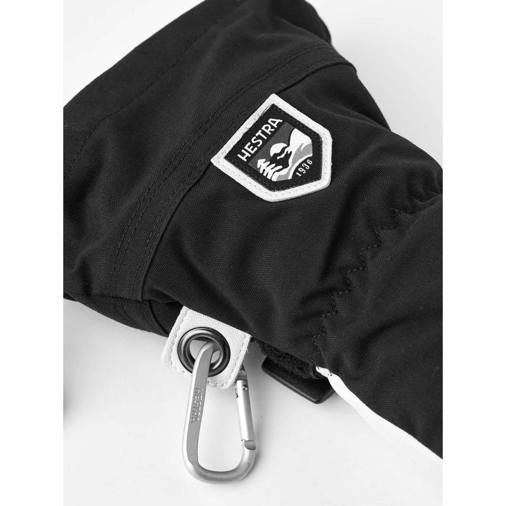 Hestra Men's Army Leather Heli Ski 3-Finger - Black