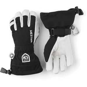 Junior Army Leather Heli Ski Glove - Black