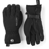 Men's Leather Soft Shell Short Glove - Black