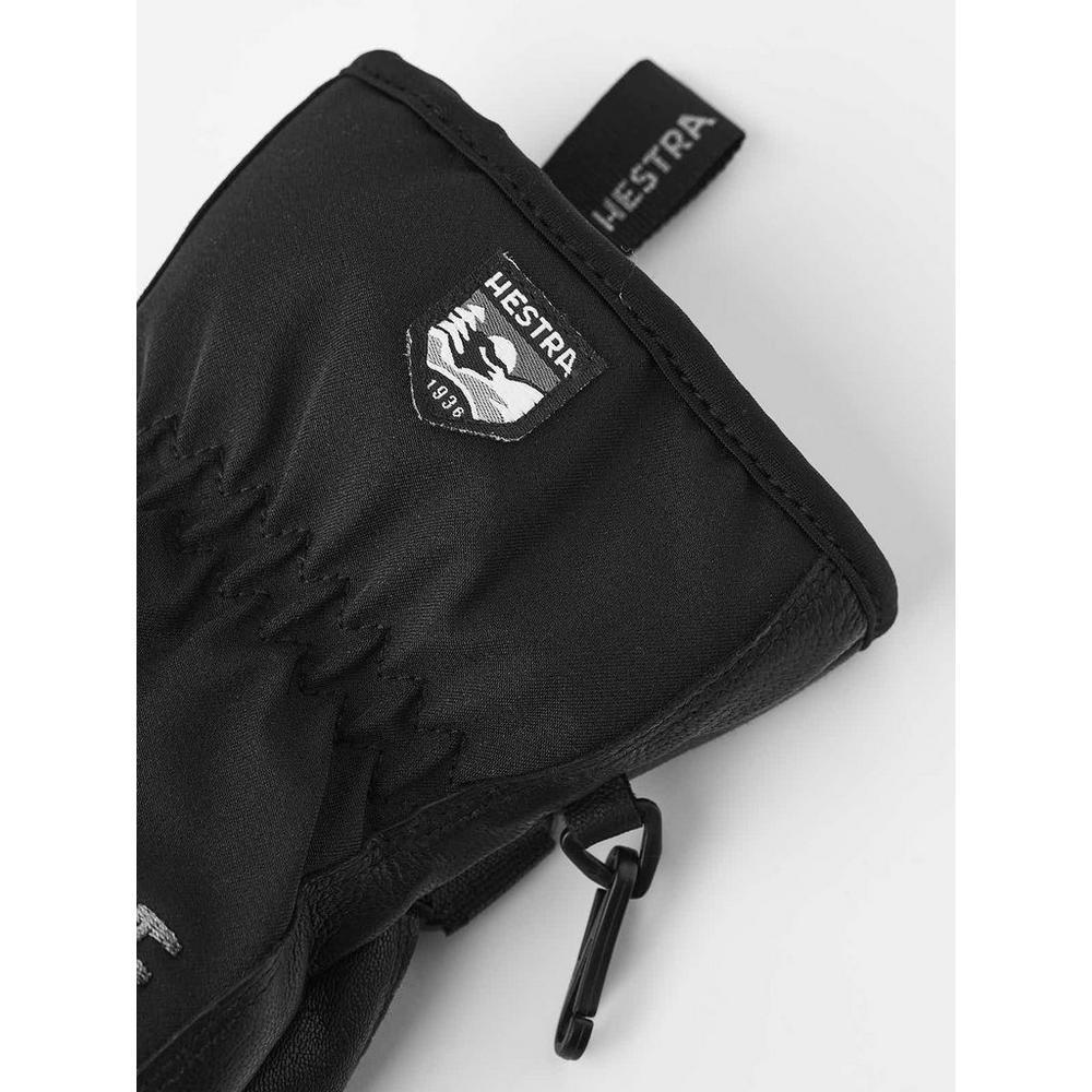 Hestra Men's Leather Soft Shell Short Glove - Black