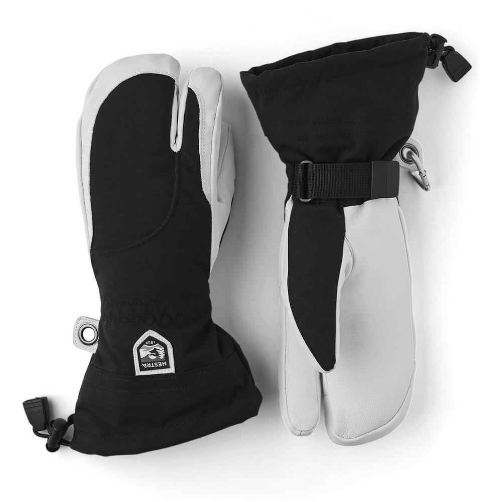 Hestra Women's Heli Ski 3 Finger Glove - Black
