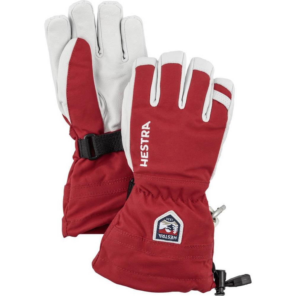 Hestra Kids' Army Heli Ski Jr Glove - Red