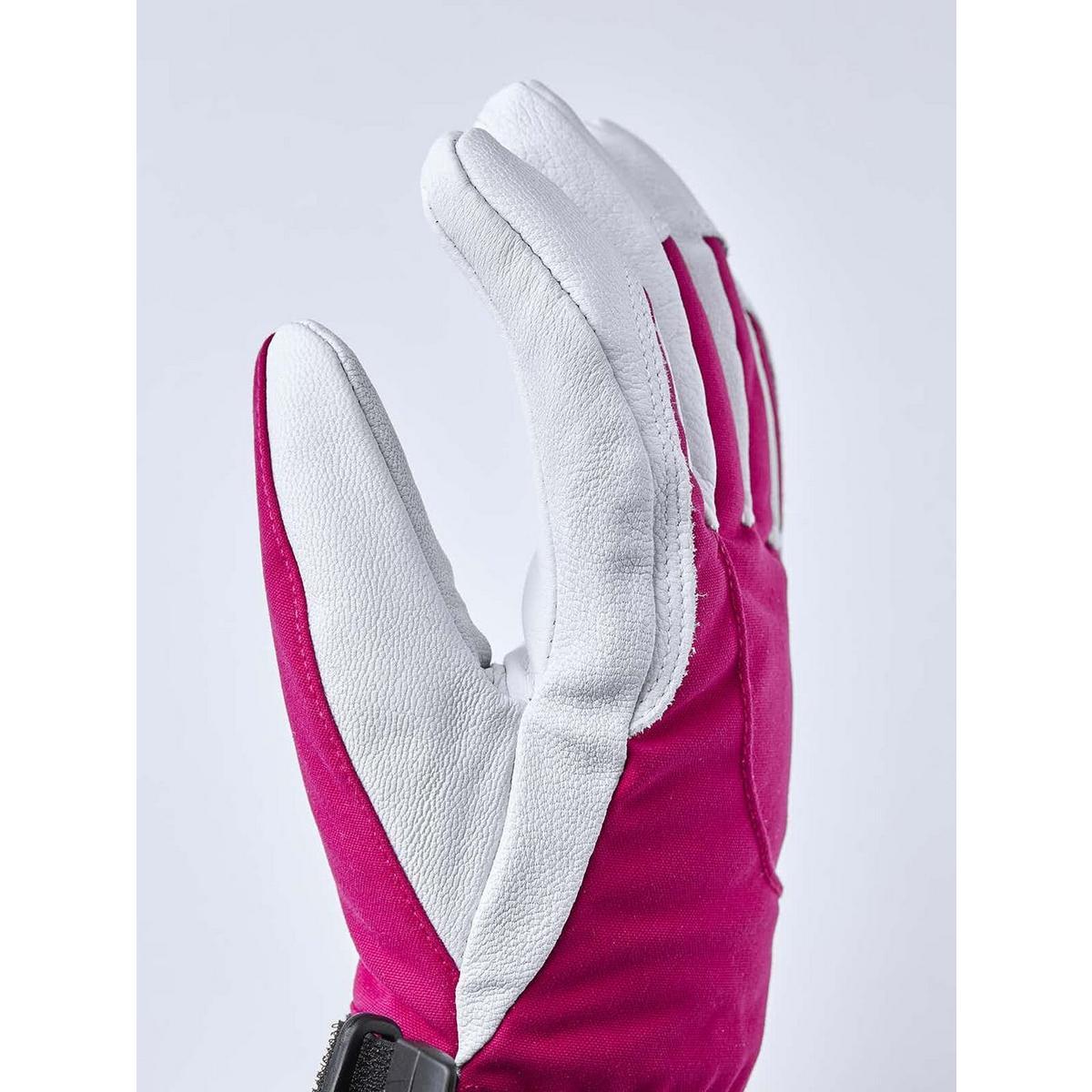 Hestra Women's Heli Ski Glove - Fuchsia Off White