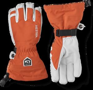 Men's Army Leather Heli Ski Glove - Brick Red