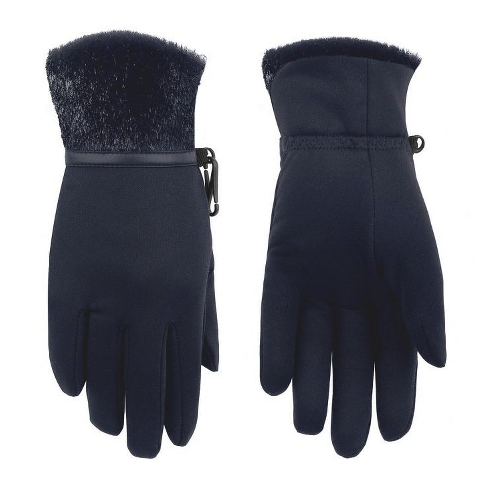 Poivre Blanc Women's Stretch Fleece Glove - Bubbly Gothic Blue