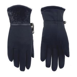 Women's Stretch Fleece Glove - Bubbly Gothic Blue