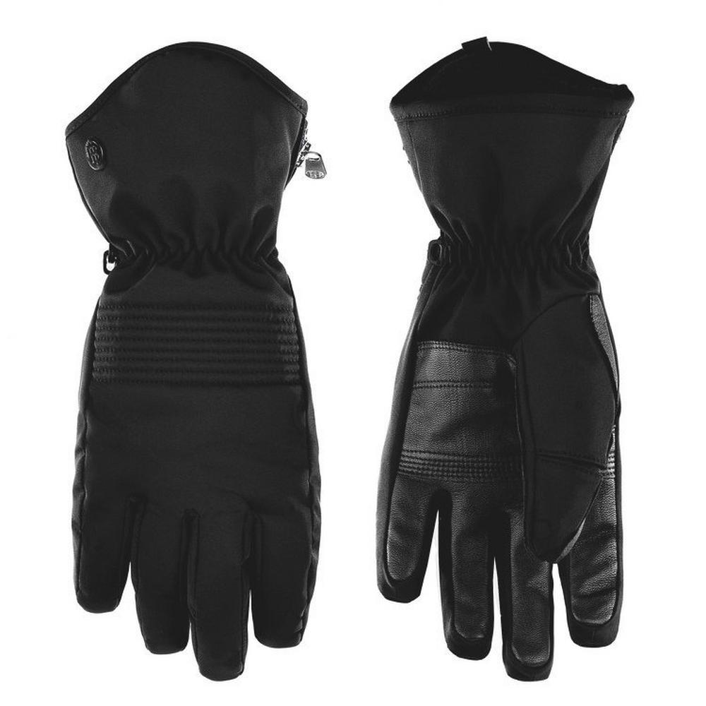 Poivre Blanc Women's Stretch Ski Glove - Black