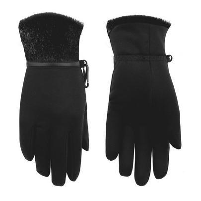 Poivre Blanc Women's Stretch Fleece Glove - Bubbly Black