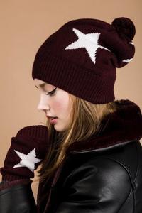 Women's Cashmere Star Beanie