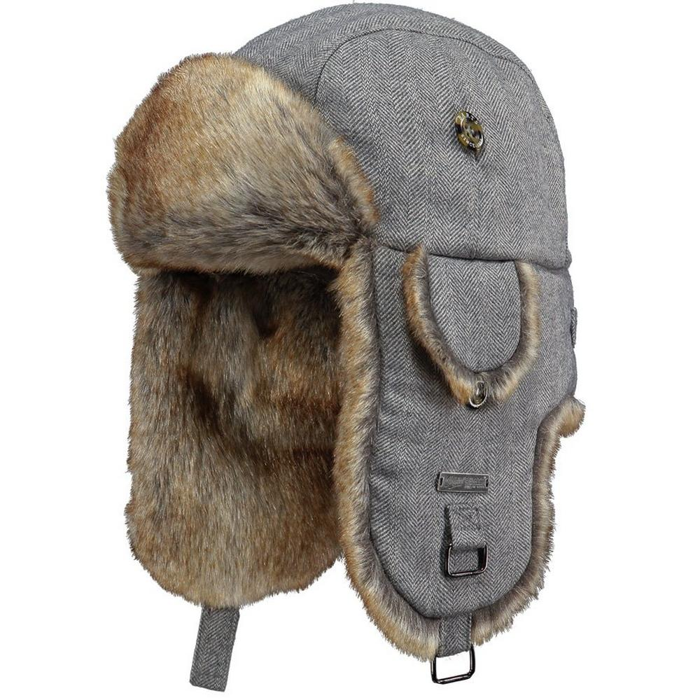 Barts Hat Women's Kamikaze Bomber Grey Herringbone