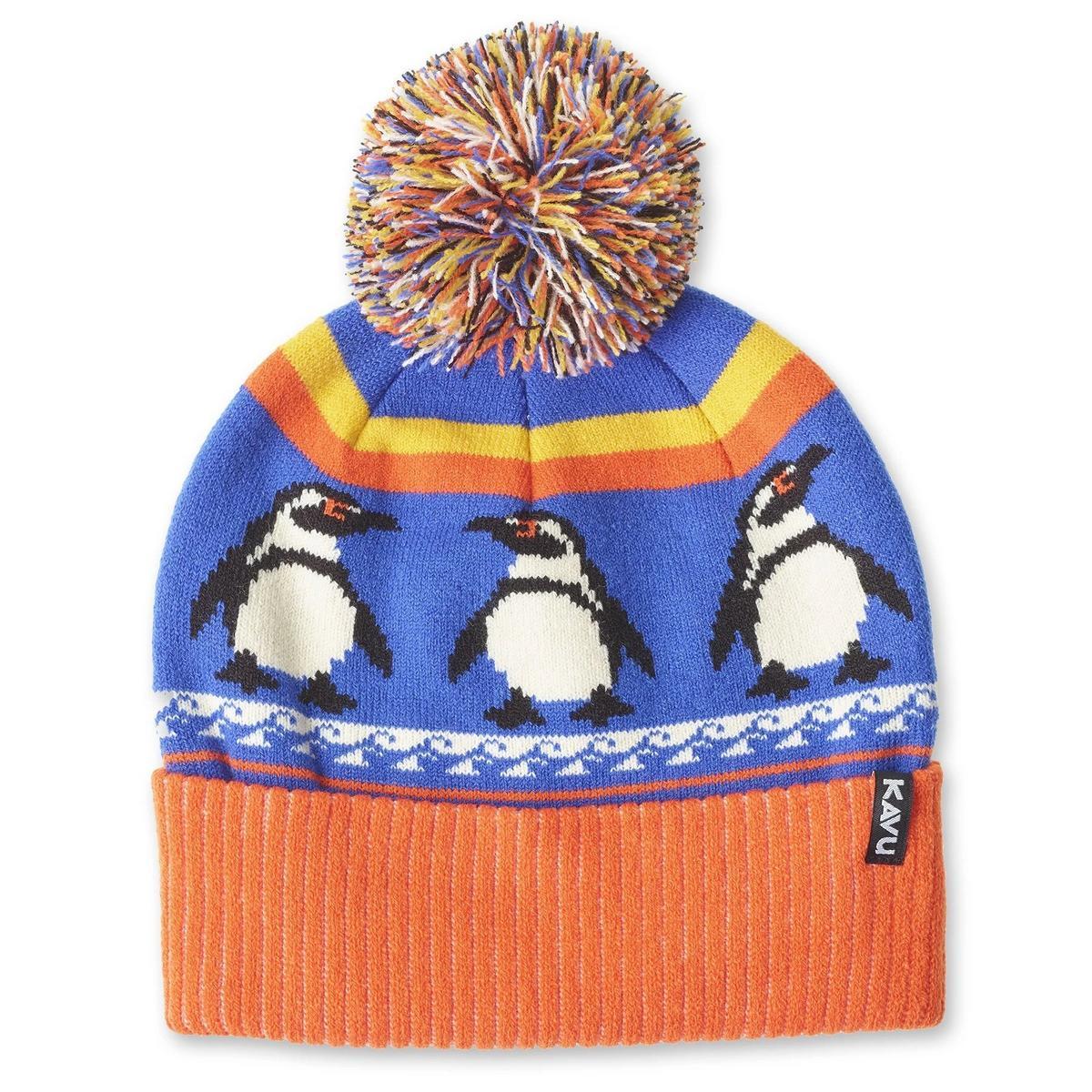 Kavu Unisex Herschel Penguin Beanie - Orange/Blue
