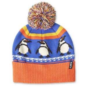 Unisex Herschel Penguin Beanie - Orange/Blue