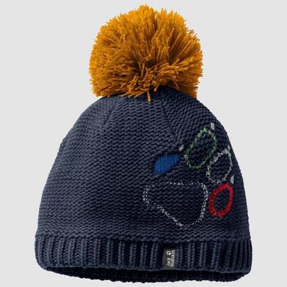 Jack Wolfskin Kid's Paw Knit Cap - Night Blue