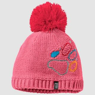 Kids' Jack Wolfskin Paw Knit Cap - Pink