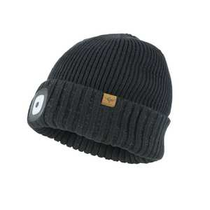 Unisex Sealskinz Waterproof Cold Weather Led Cuff Beanie - Black