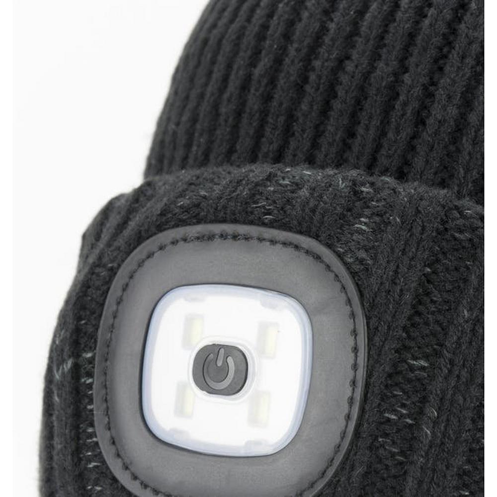Sealskinz Unisex Sealskinz Waterproof Cold Weather Led Cuff Beanie - Black