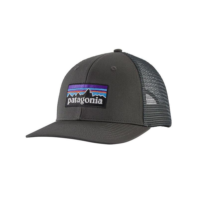 U Patagonia P-6 Logo Trucker Hat - Grey
