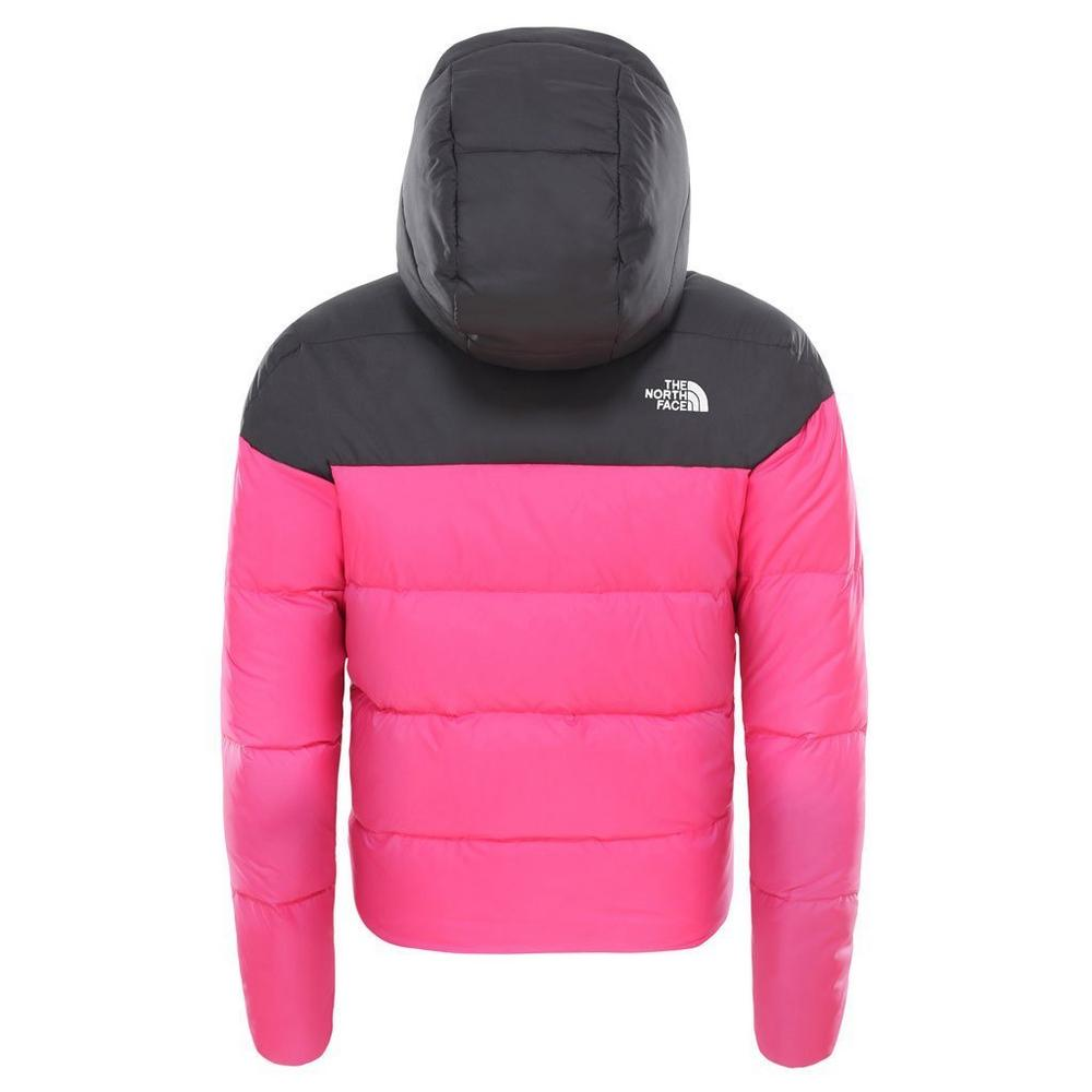 The North Face North Face INSULATED Jacket Girl's Moondoggy Down Hood Rage Pink