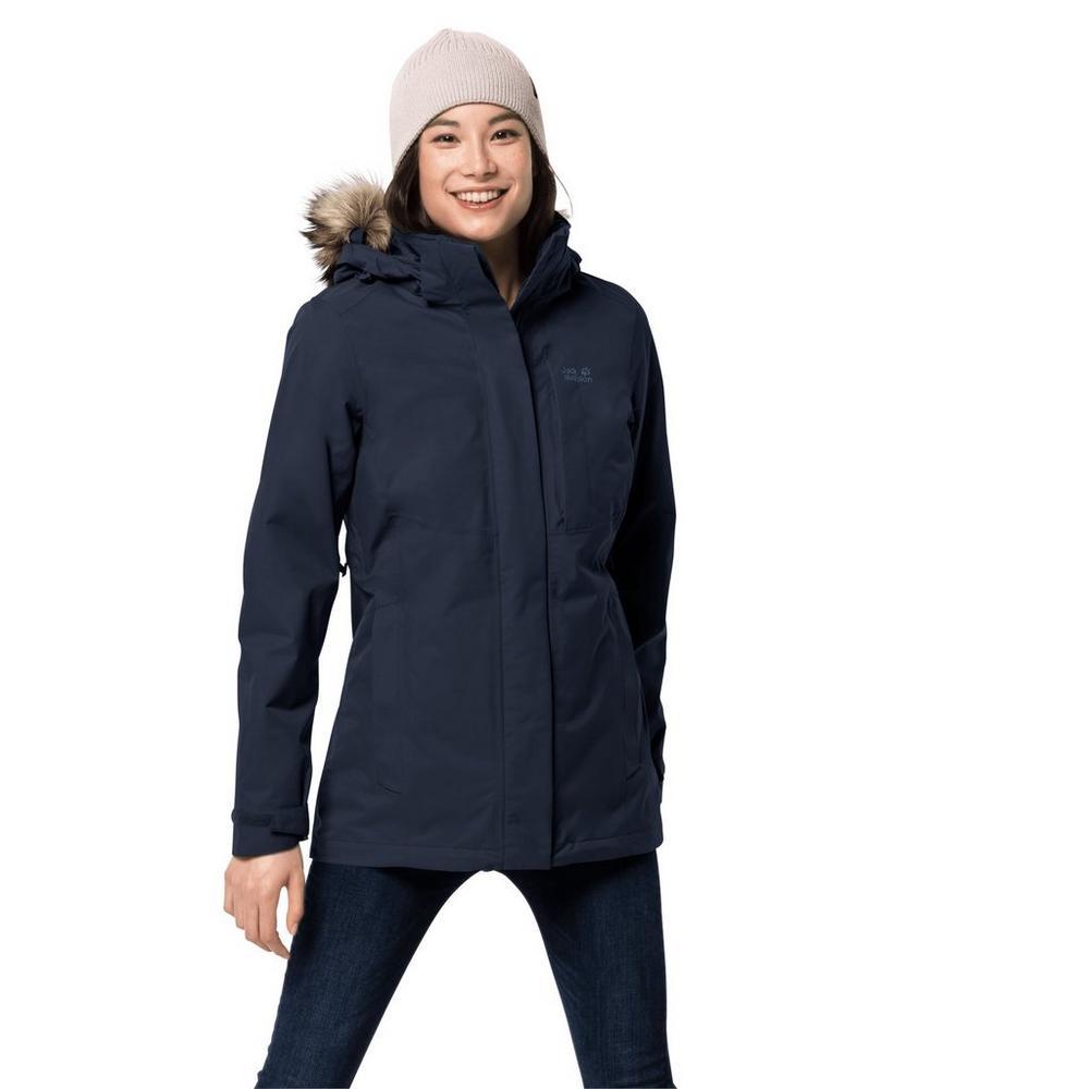 Jack Wolfskin Women's Arctic Ocean 3 in 1 Jacket - Midnight Blue