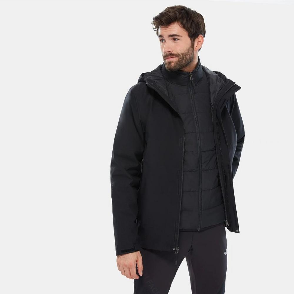 The North Face Men's Carto Zip-In Triclimate Jacket - Black