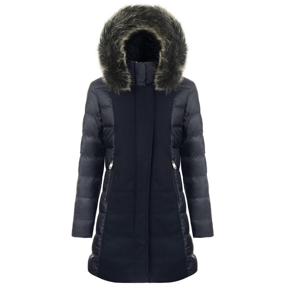 Poivre Blanc Women's Longline Hybrid Wool Coat