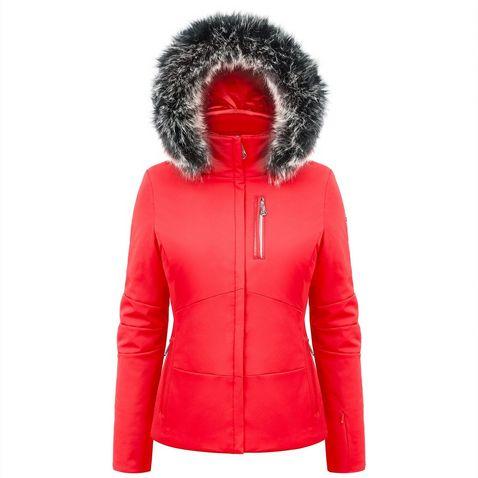 Red Poivre Blanc Women s Short Stretch Ski Jacket ccf53fe09